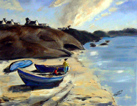 Paternoster beach painting