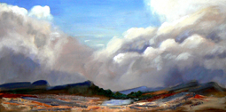Thunder clouds landscape painting