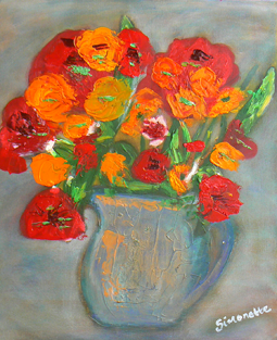 Bold flowers painting