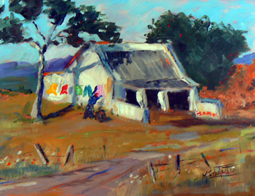 Jacobs Bay cottage painting