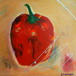 Red pepper painting