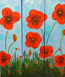 Poppies flowers painting