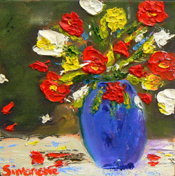 Spring flowers 1 painting